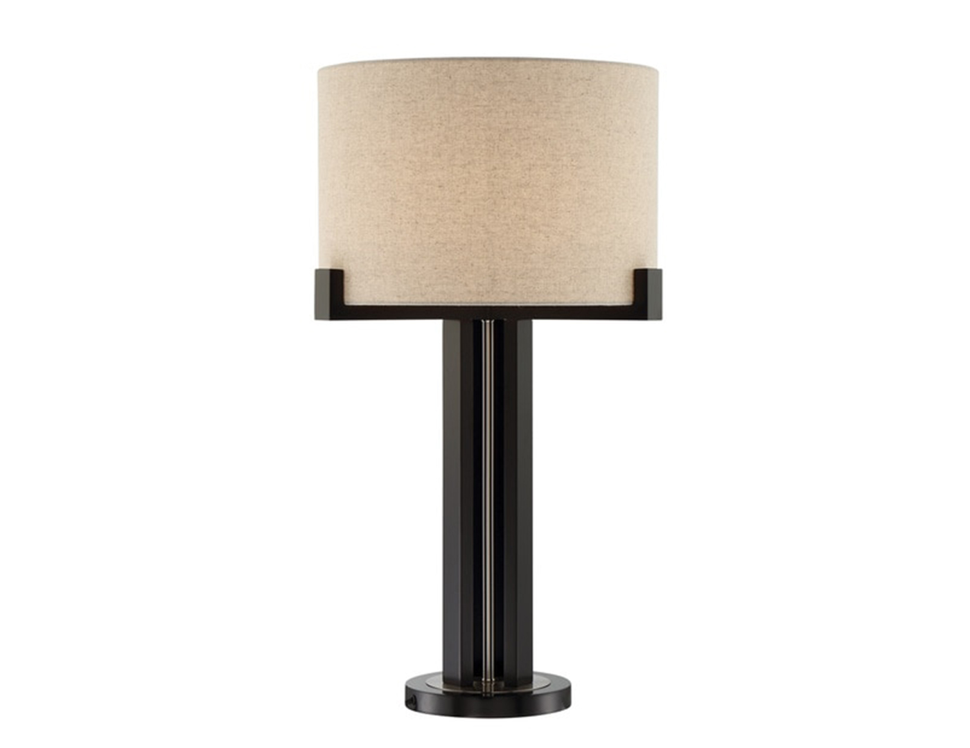 "Bronze Metal Table Lamp 30""H"