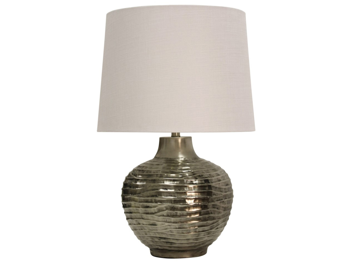 "Aged Silver Wavy Table Lamp 20.5""H"