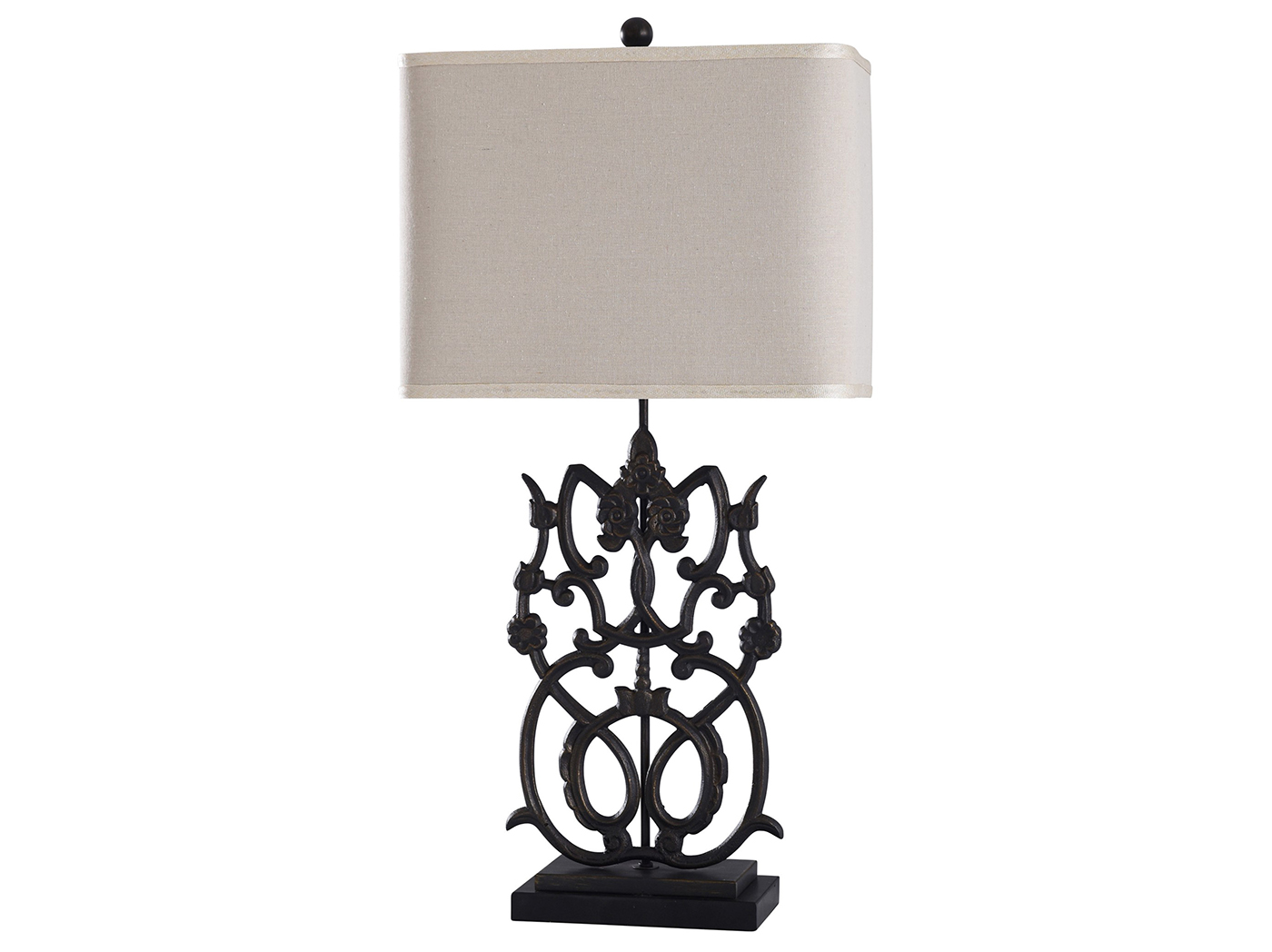"Ornate Cast Iron Table Lamp 32""H"