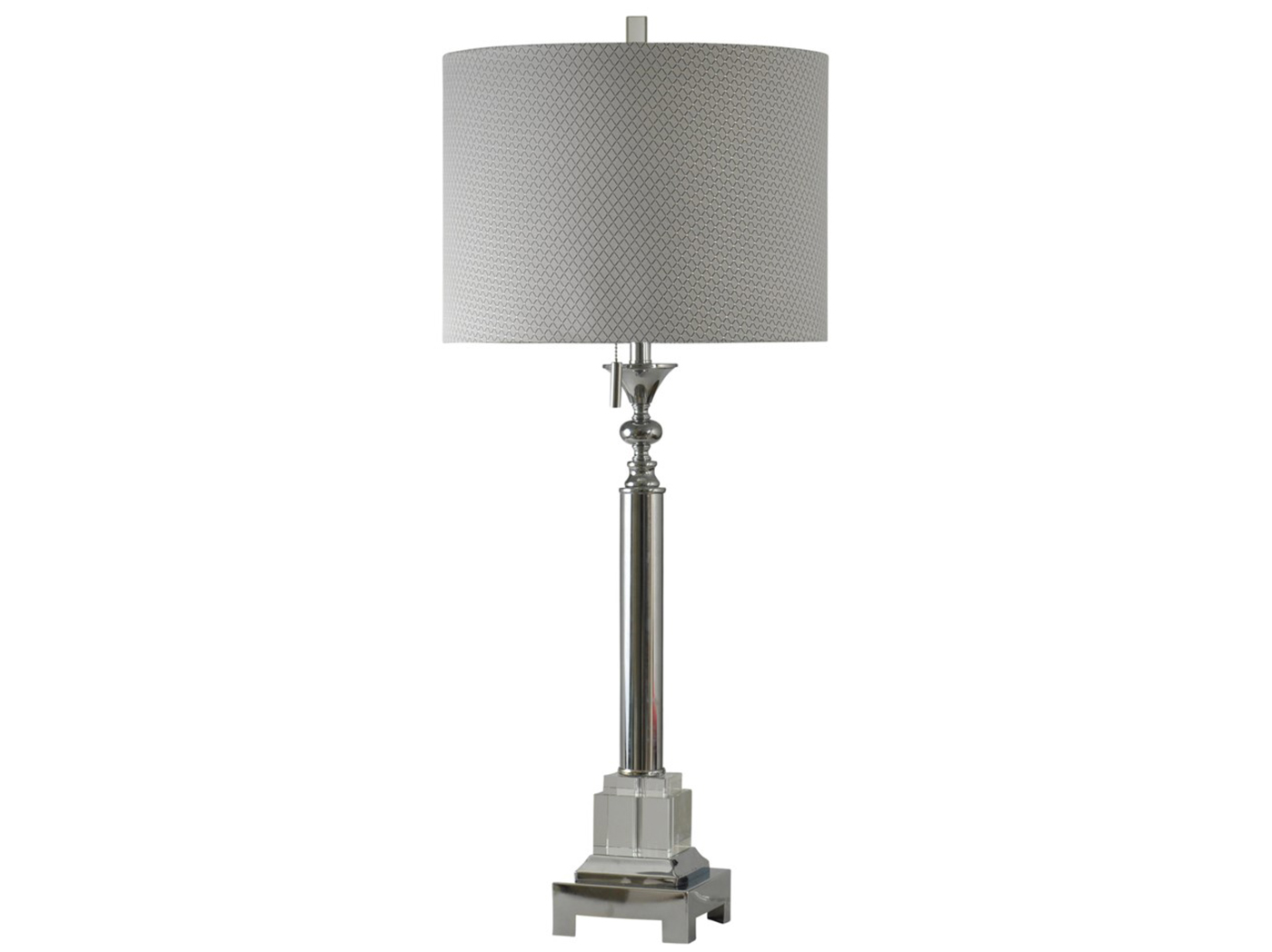 "Chrome/Crystal Table Lamp 41""H"