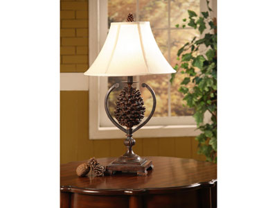 "Pinecone Table Lamp 30""H"