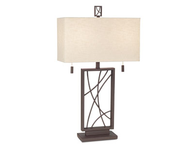 "Criscross Table Lamp 31""H"