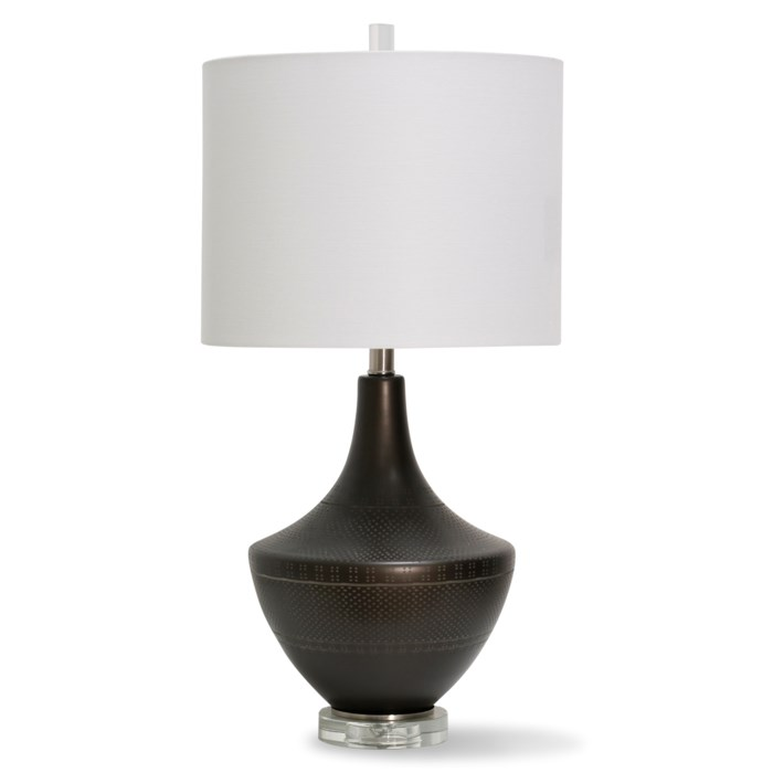 "Bronze Urn Table Lamp 28""H"