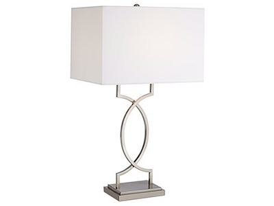 Brushed Steel Modern Table Lamp 30""