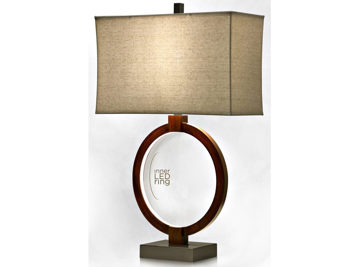 "LED Ring Table Lamp 31""H"