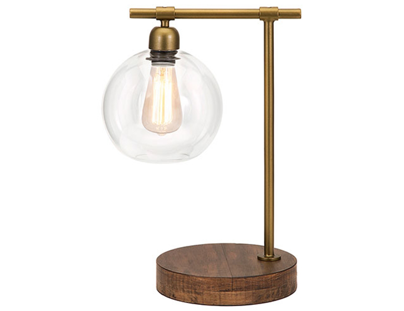 "Amplitude Table Lamp 18""H With Edison Bulb"