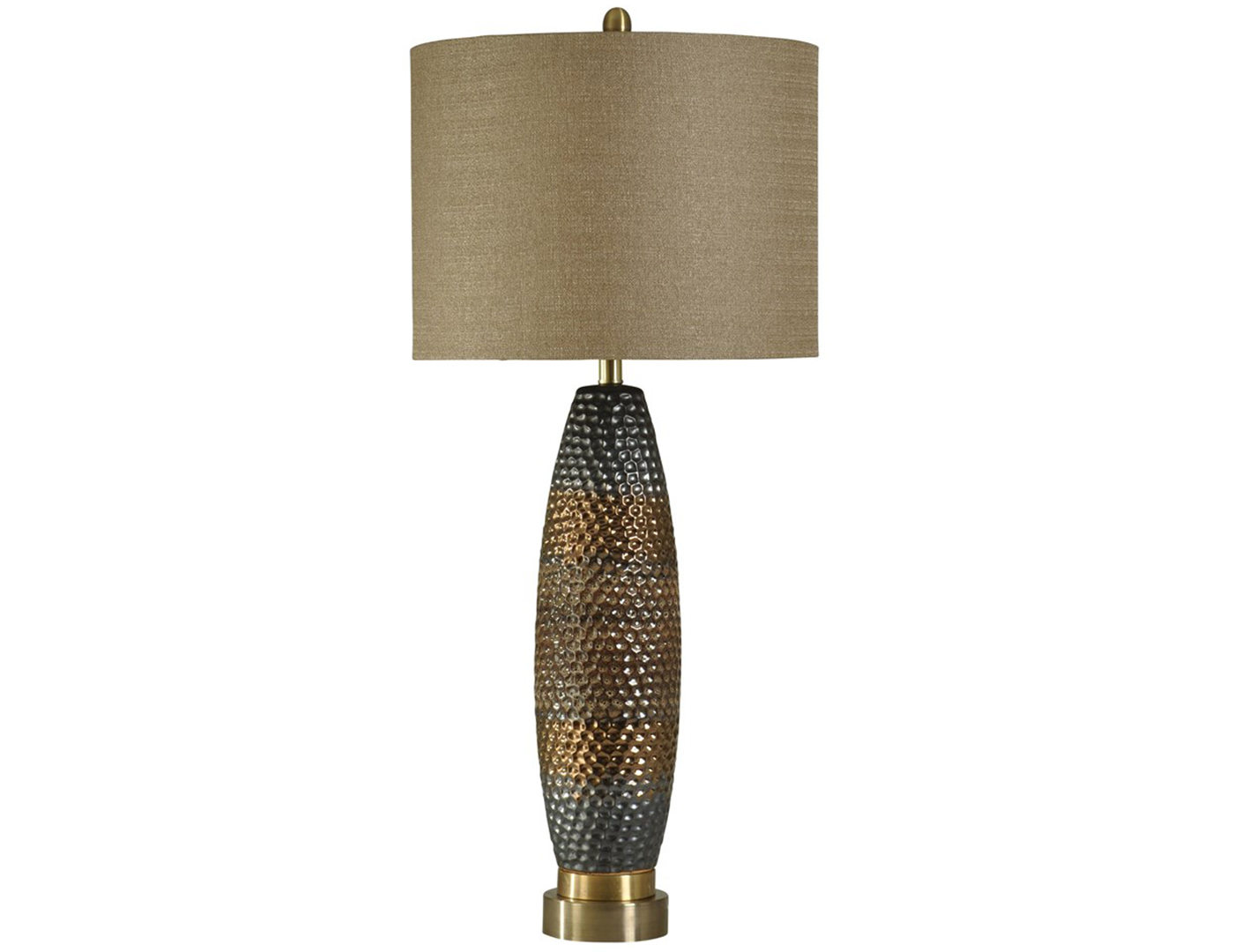 "Ceramic and Steel Table Lamp 37""H"
