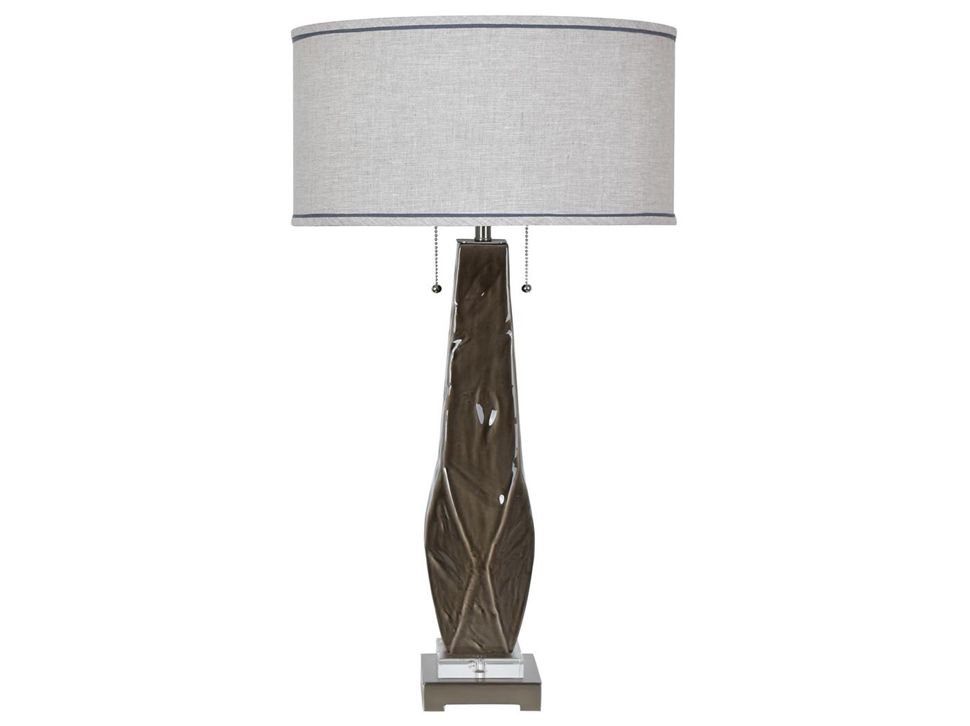Dark Grey Ceramic Table Lamp 31 5 H Steinhafels