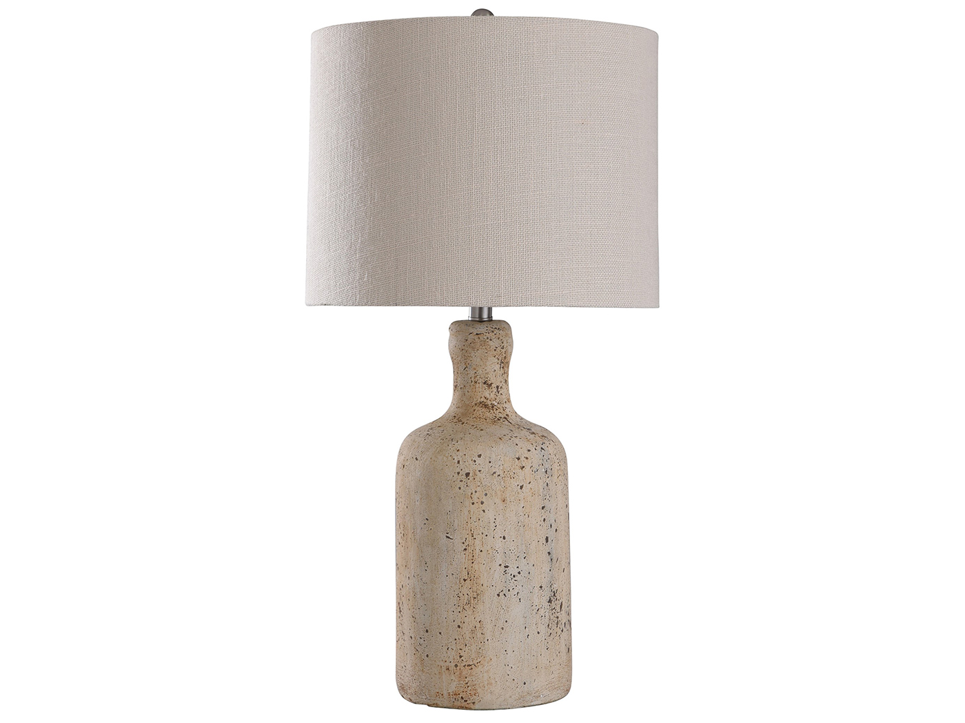 "Cream Concrete Table Lamp 30""H"