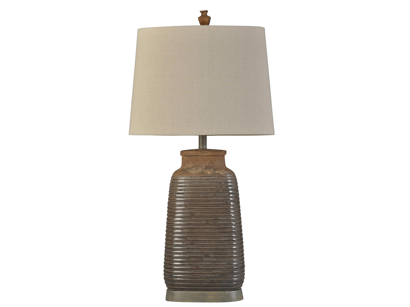"Ribbed Ceramic Table Lamp 35""H"