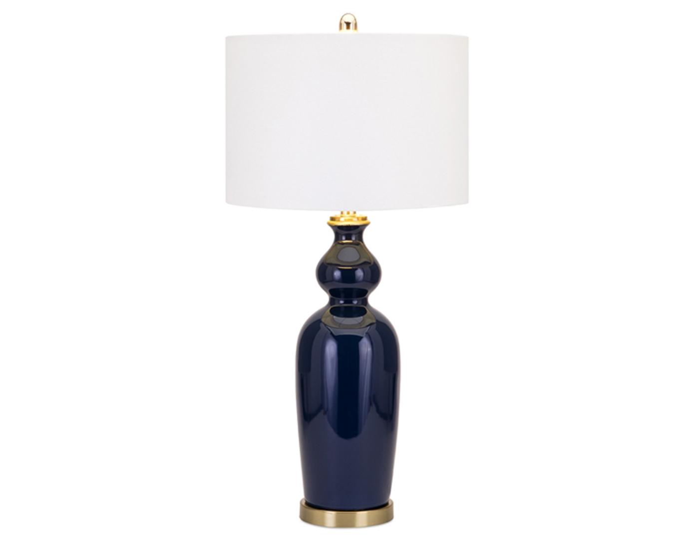 Blue ceramic table lamp - Navy Blue Ceramic Table Lamp