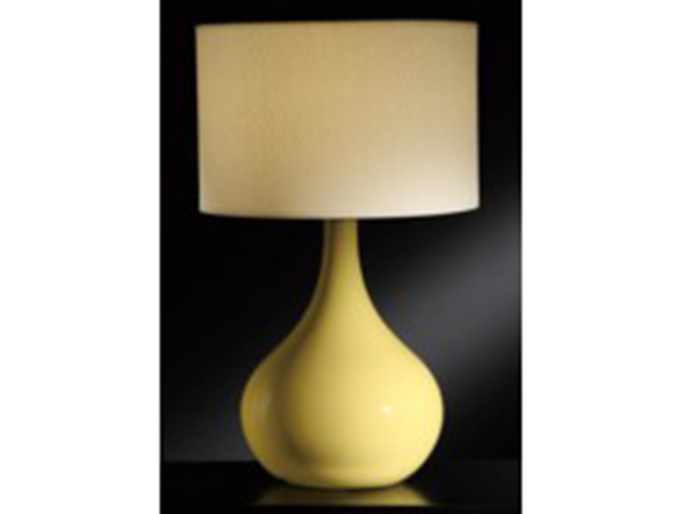 "Yellow Ceramic Table Lamp 28""H"