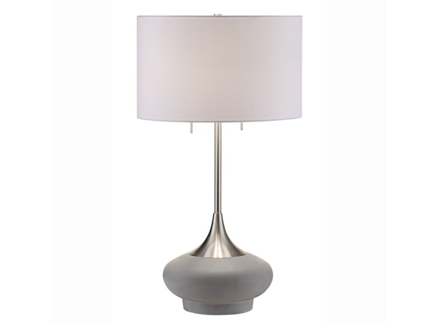 "Concrete/Silver Metal Table Lamp 32""h"