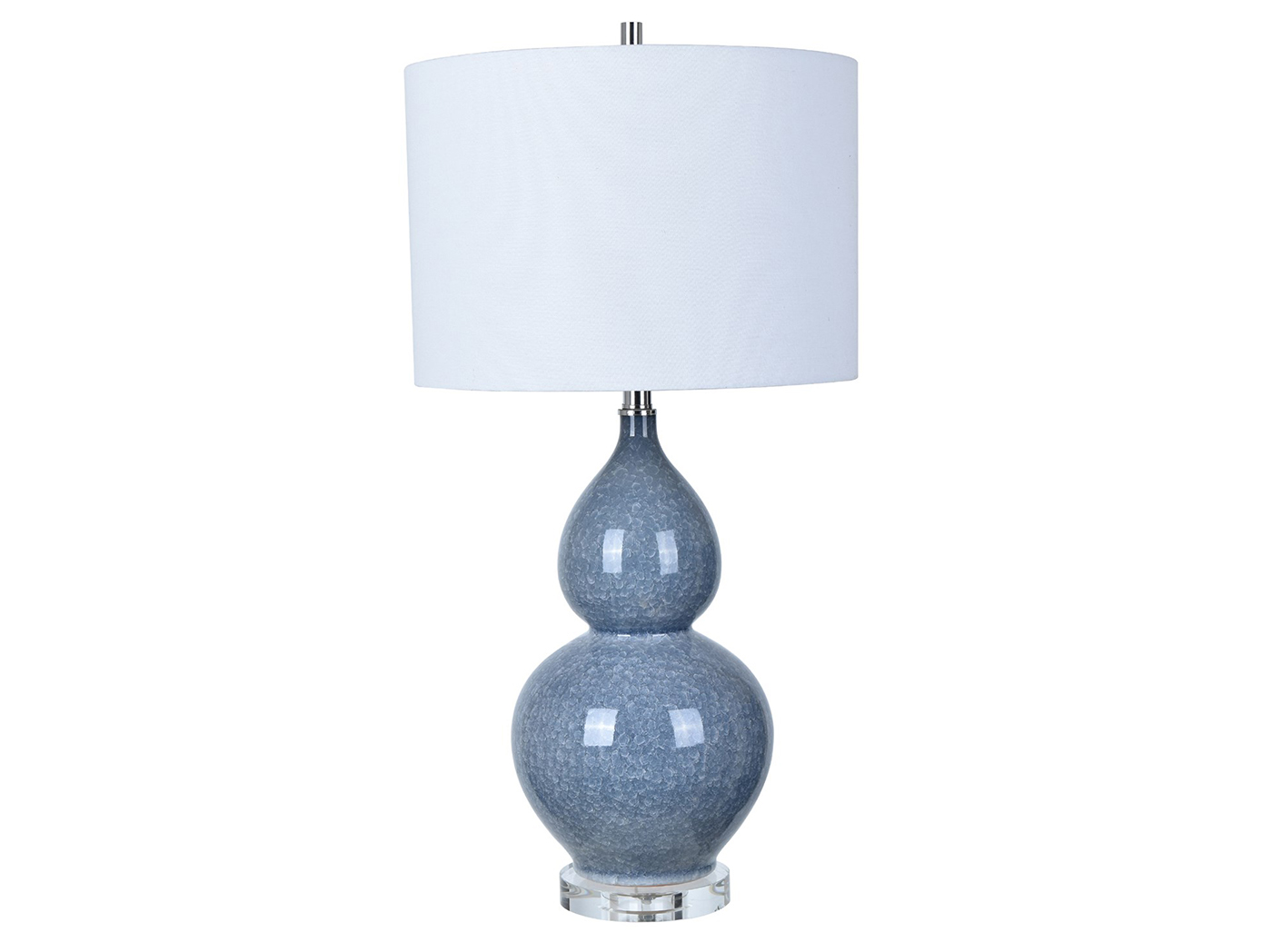 "Blue Ceramic Table Lamp 30""H"