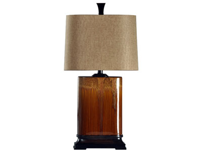 "Cinnaban Drip Ceramic Table Lamp 32""H"