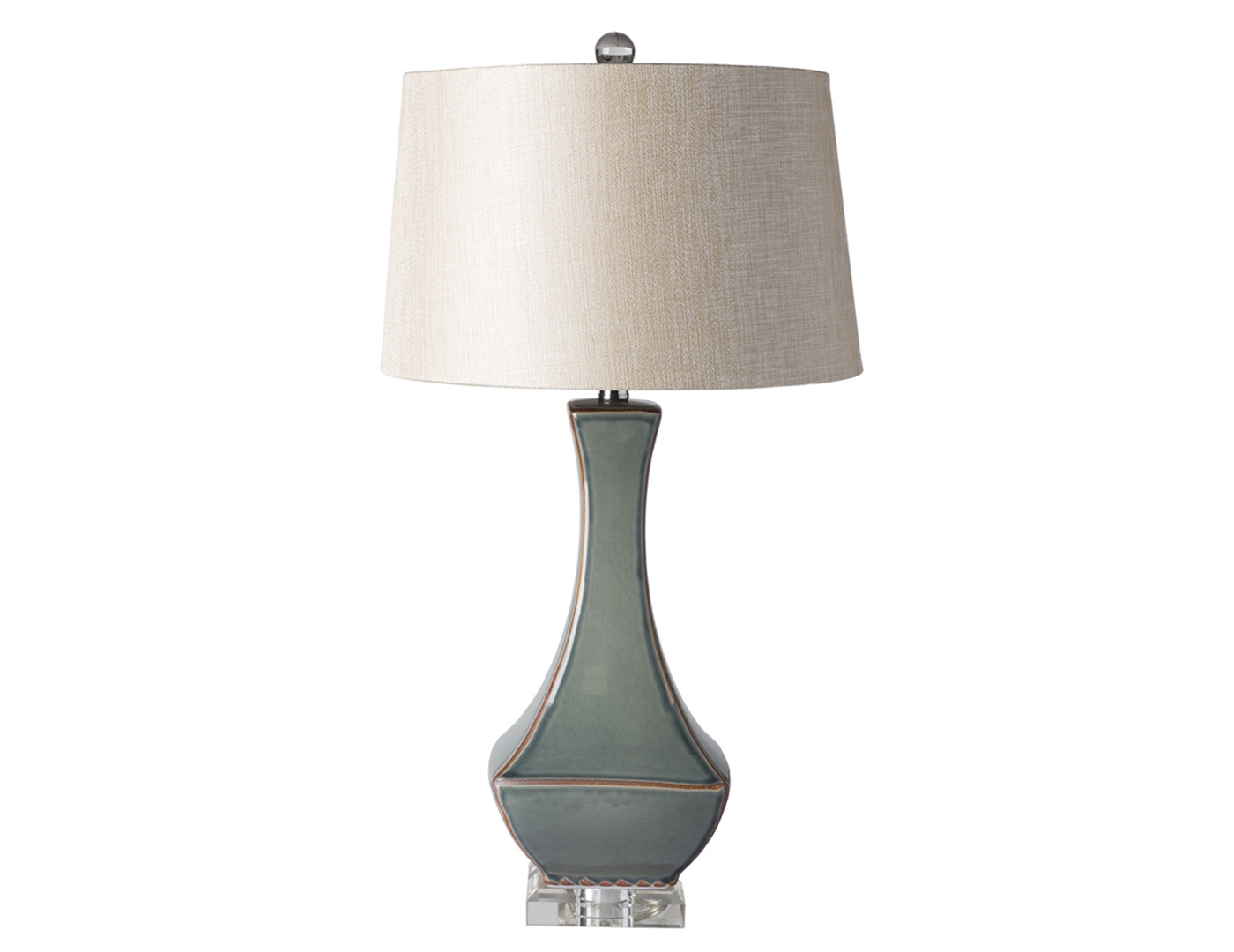 "Blue and Grey Ceramic Table Lamp 30.5""H"