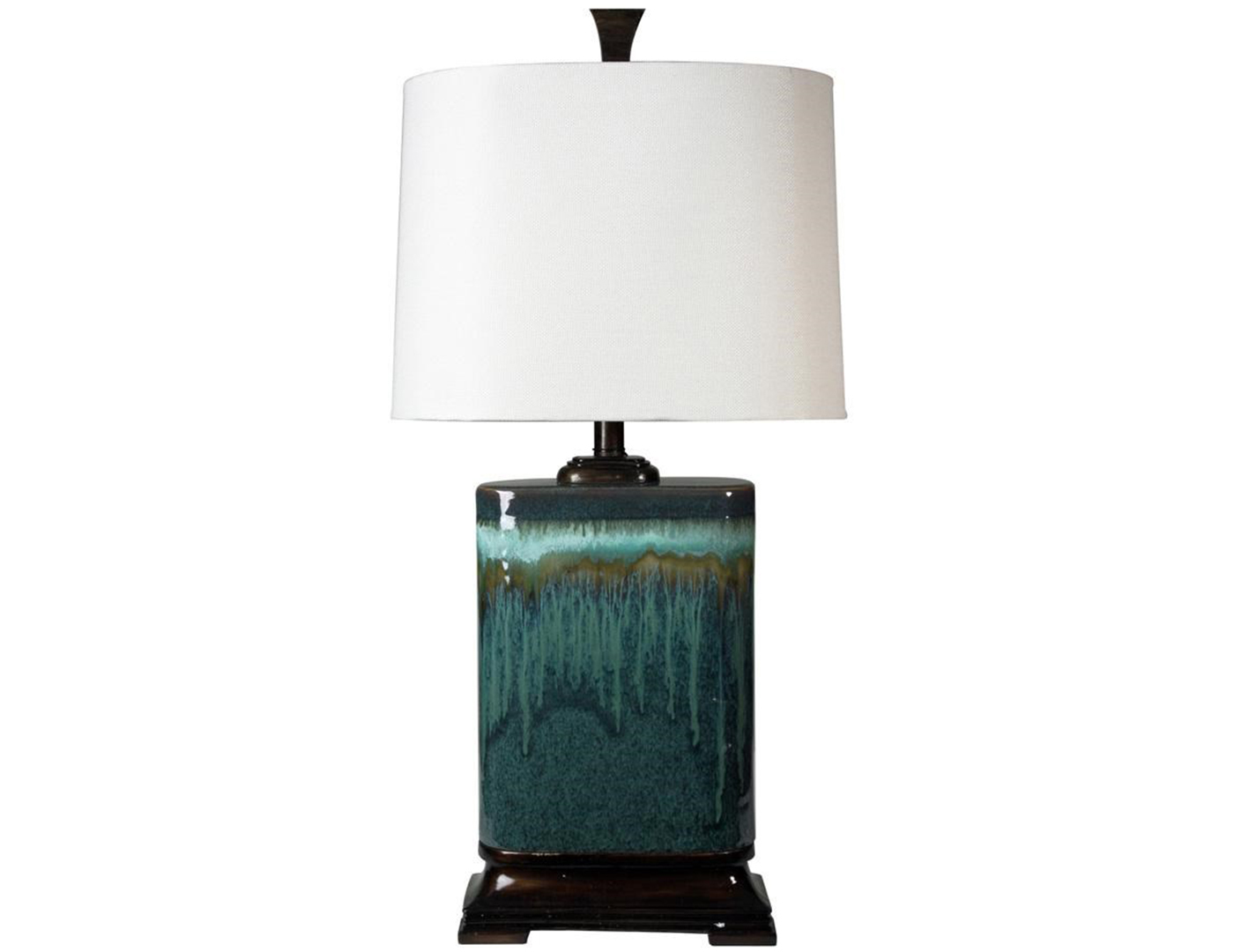 "Blue Ceramic Table Lamp 32""H"