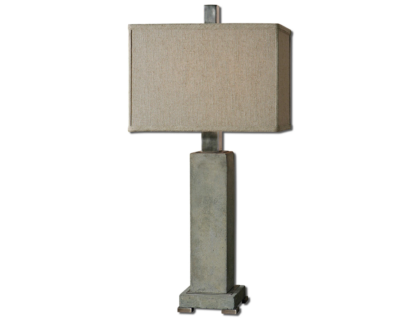 "Concrete Rectangular Table Lamp 33""H"