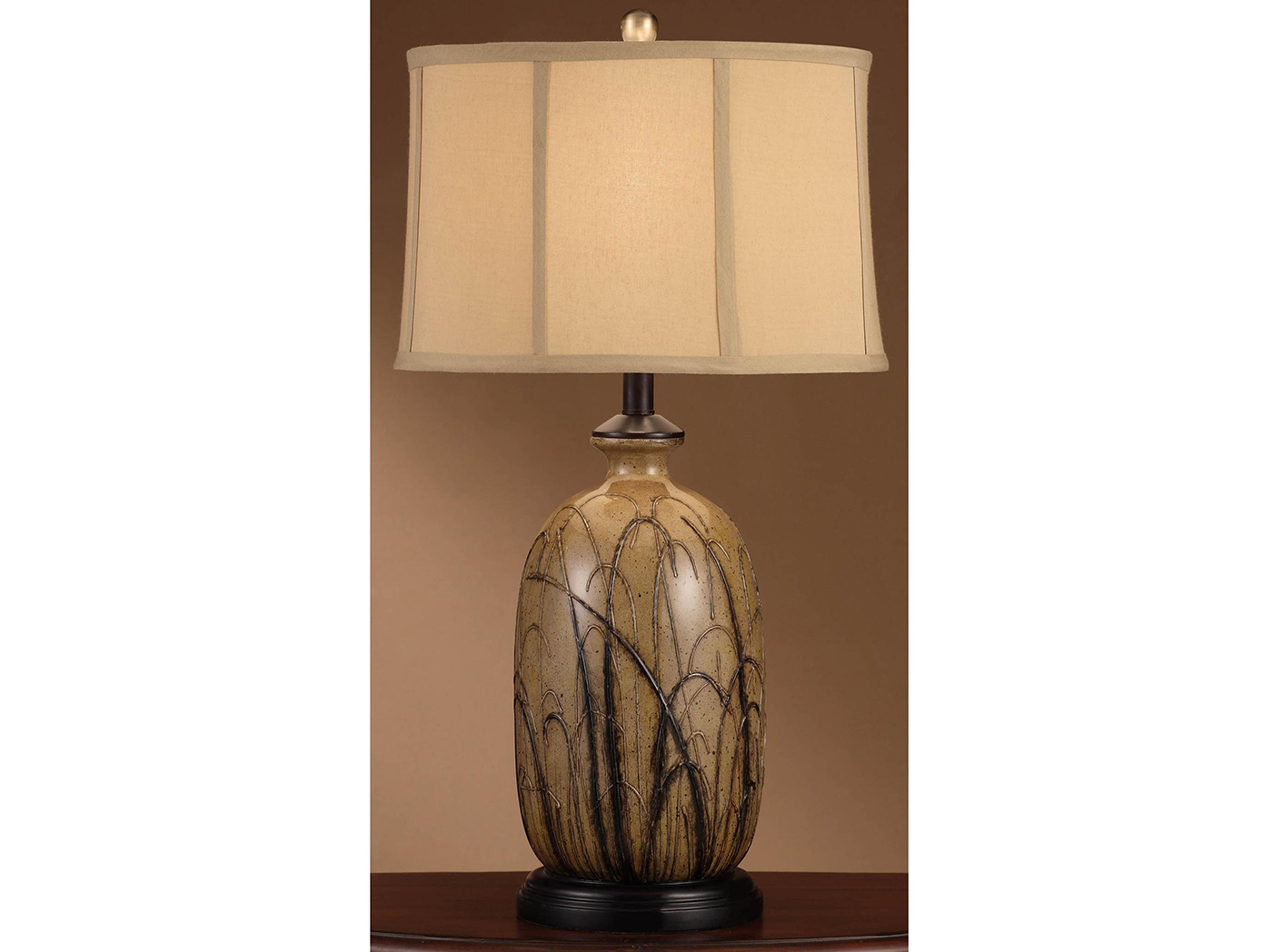 "Handpainted Table Lamp 29.25""H"