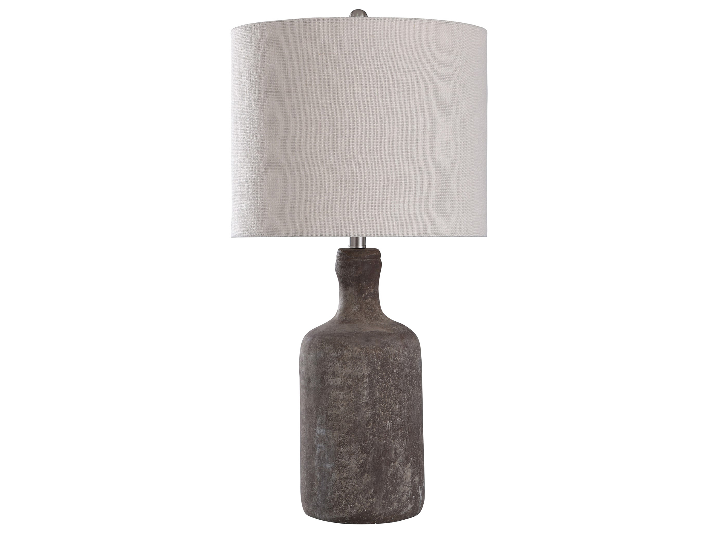 "Brown Concrete Table Lamp 30""H"