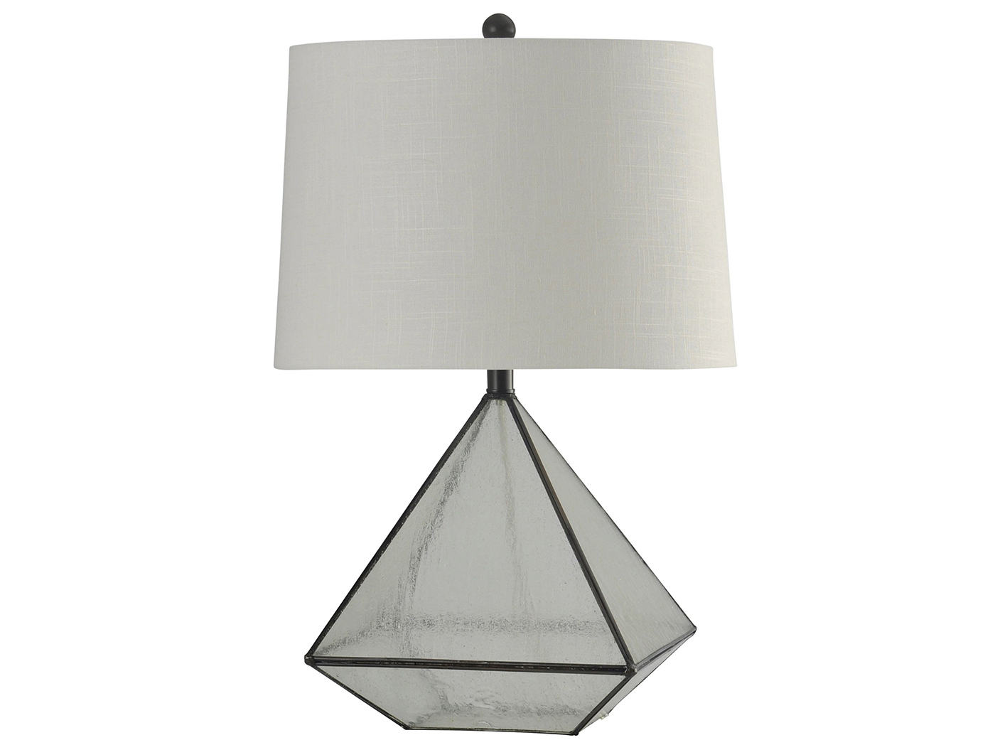 "Glass Pane Table Lamp 27""H"