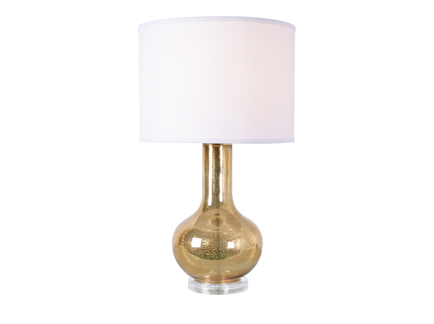 "Gold Mercury Glass Table Lamp 27""H"