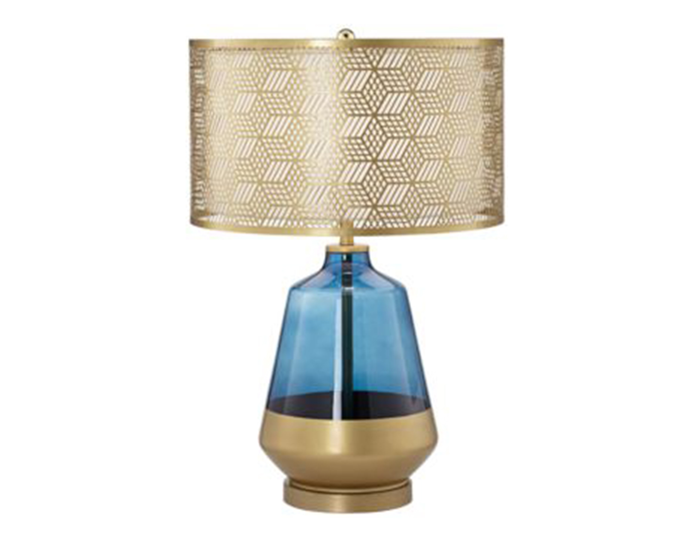 Steinhafels blue glass and gold metal table lamp blue glass and gold metal table lamp aloadofball Images