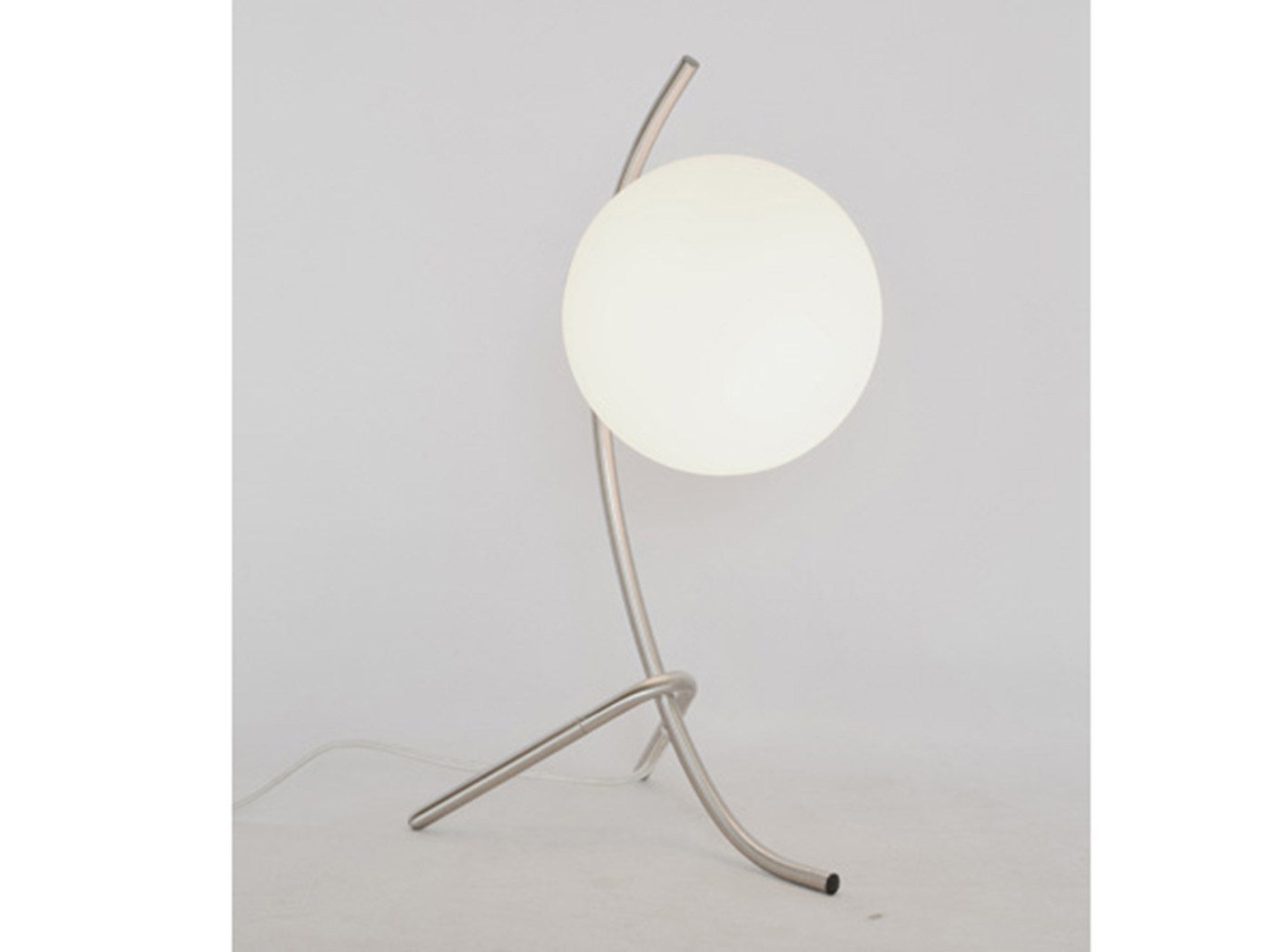 "Nickel With Frosted Glass Shade Table Lamp 21""H"