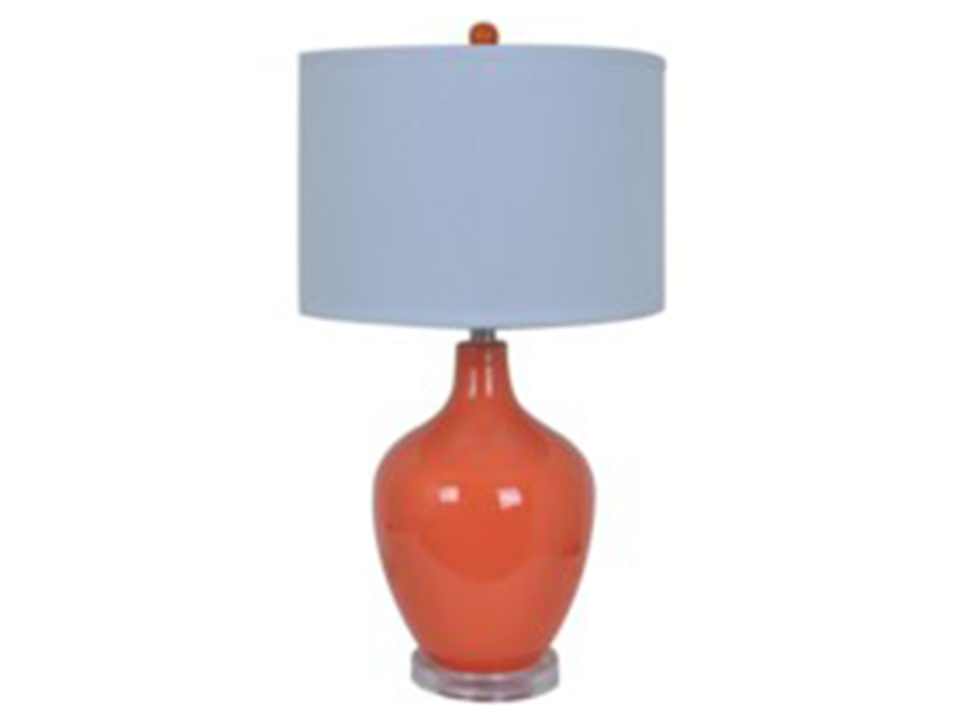 "Orange Glass Table Lamp 27""H"
