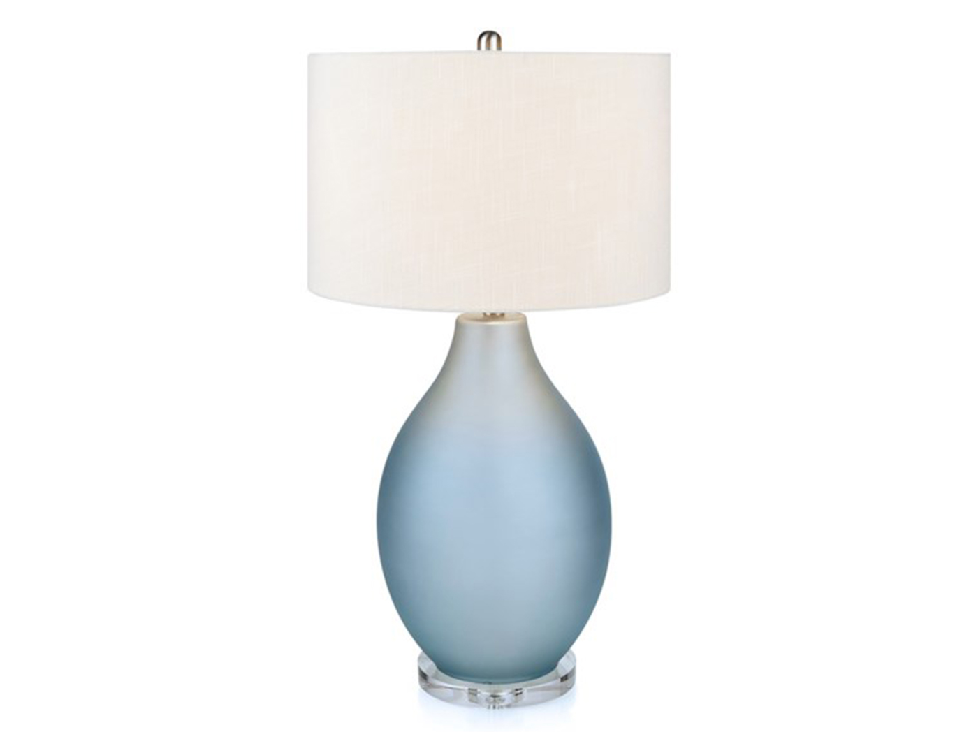 "Mist Blue Glass Table Lamp 31""H"