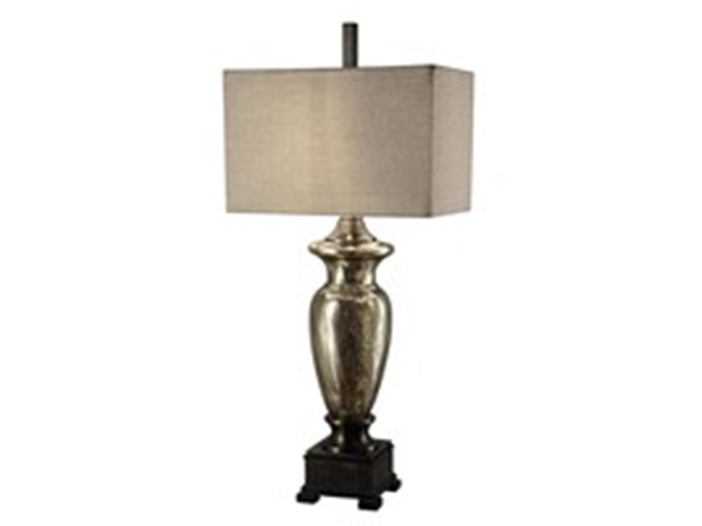 "Mercury Glass Table Lamp 40""H"