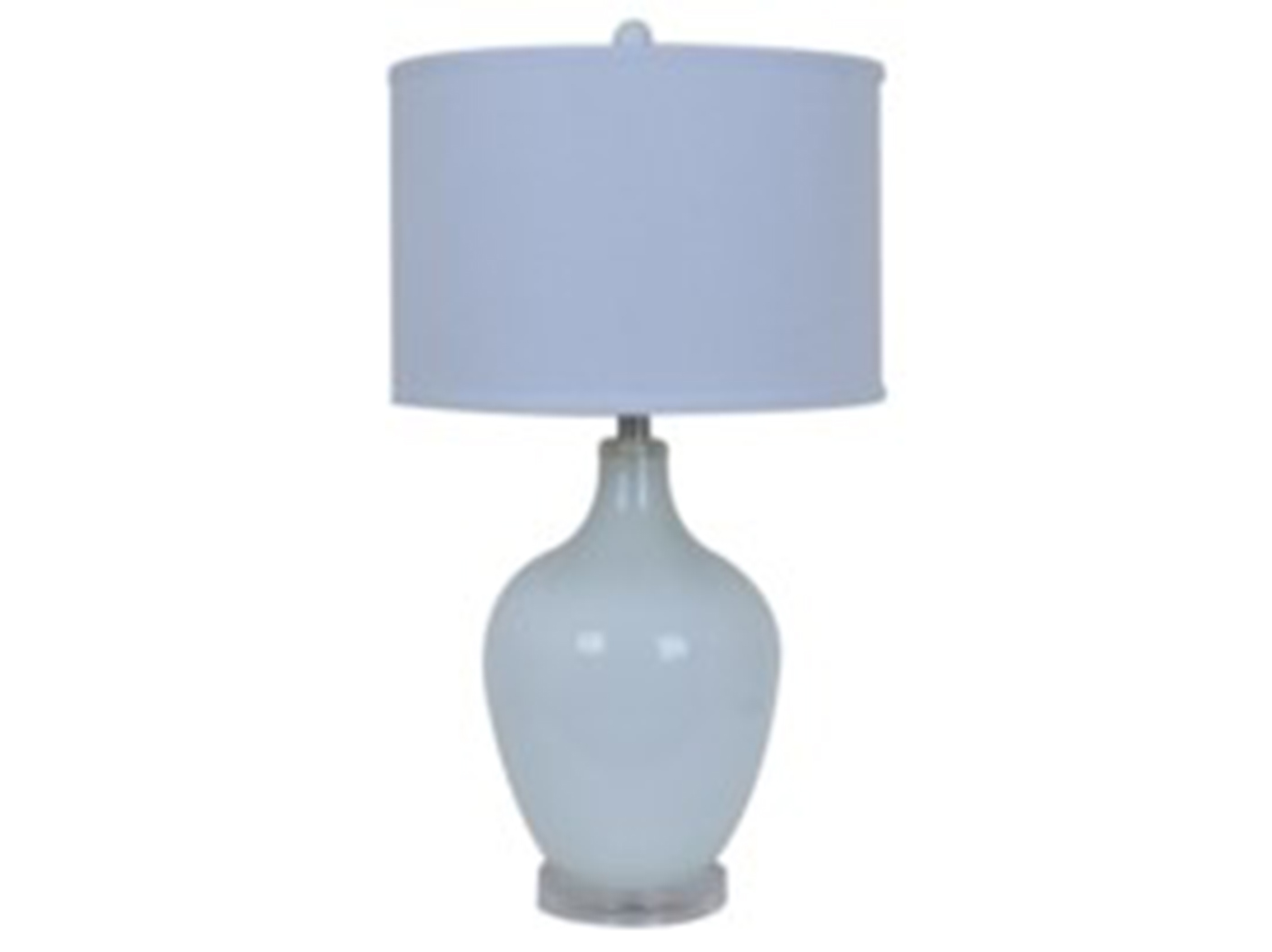 "White Glass Table Lamp 27""H"