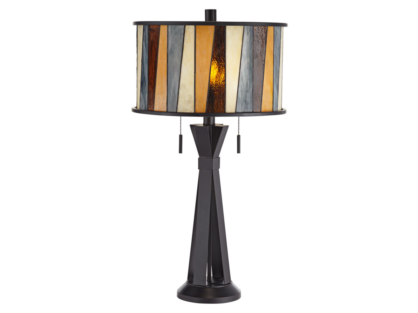 "Tiffany-Glass Style Table Lamp 31""H"
