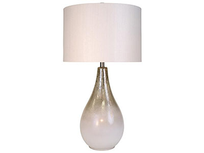 "Gold/White Mercury Glass Table Lamp 34""H"