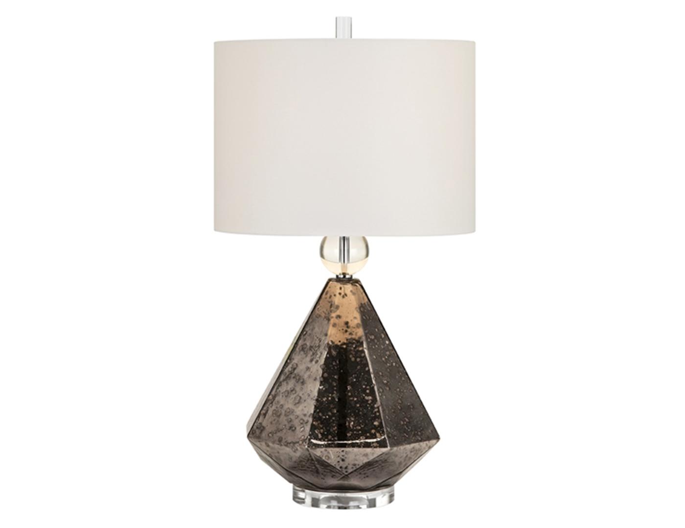 taupe mercury glass table lamp - Mercury Glass Table Lamp