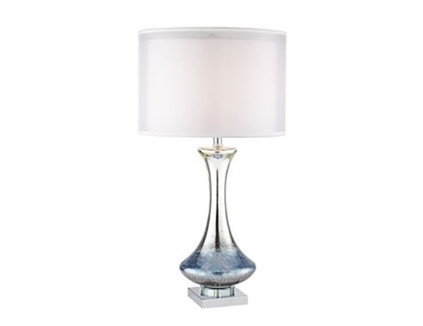 Blue glass table lamp luxury 56cm high blue bubble glass - Elegant table lamps for living room ...
