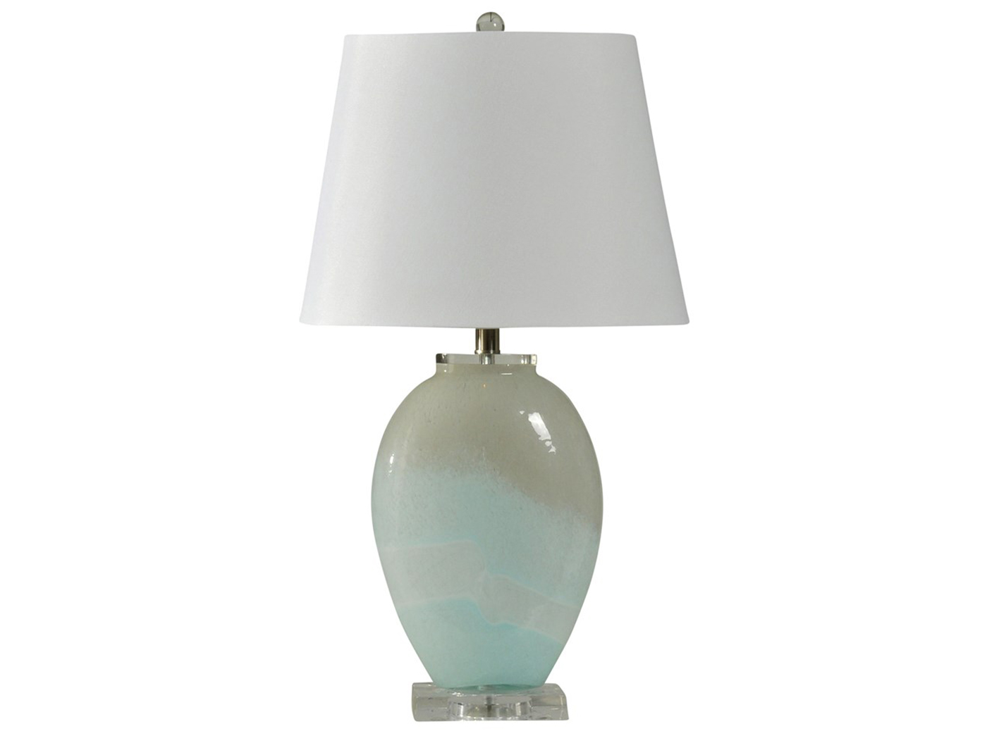 "Frosted Glass Table Lamp 27""H"