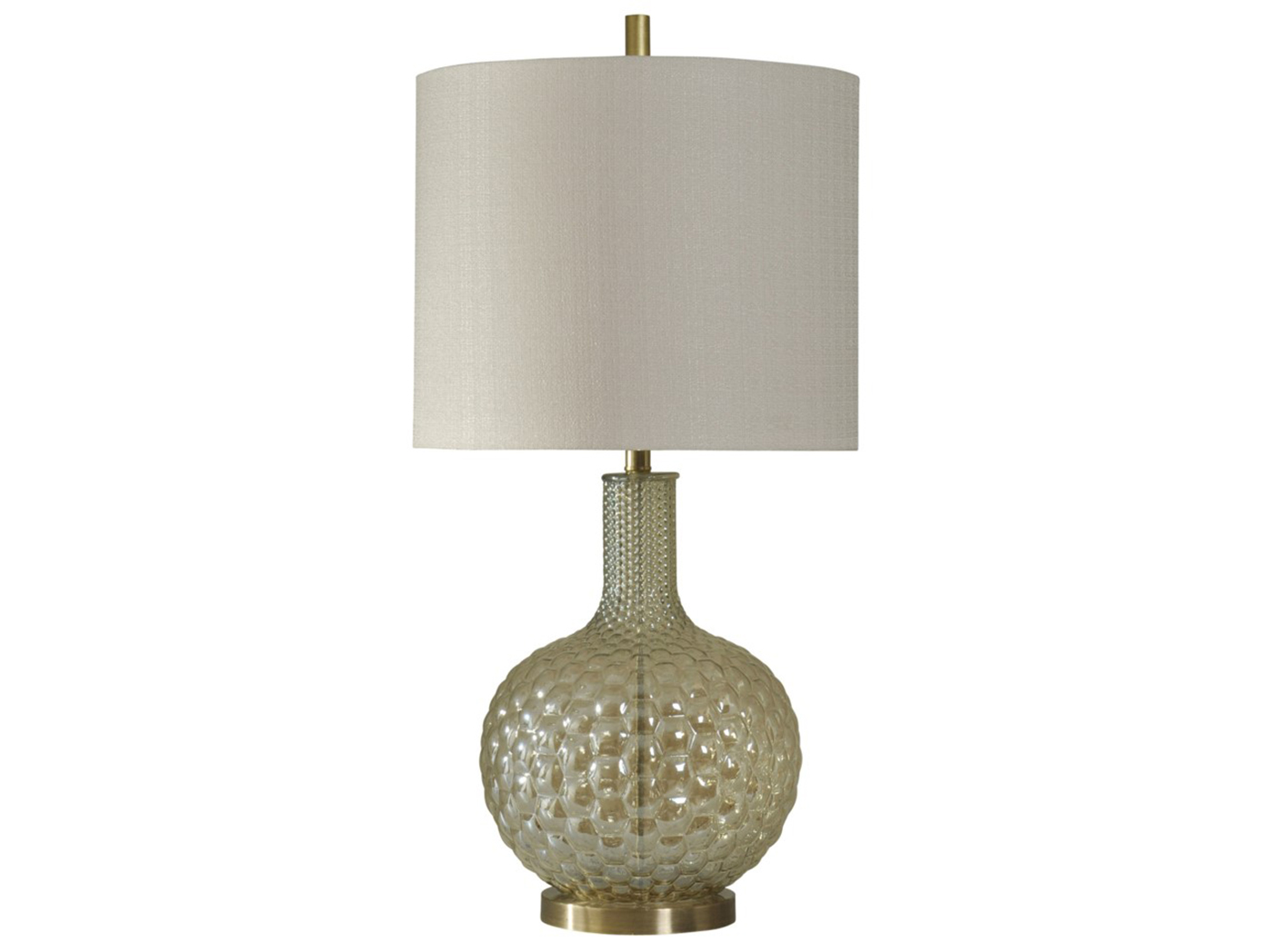 Gold Bubble Glass Table Lamp 34""