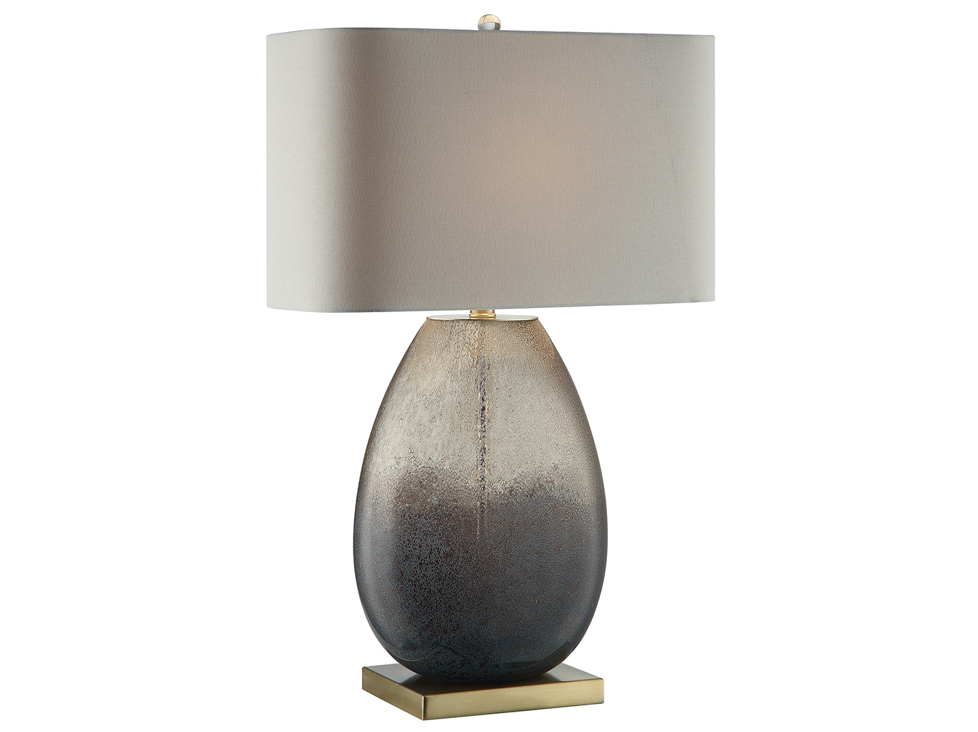"Smoked Hombre Glass Table Lamp 29.5""H"