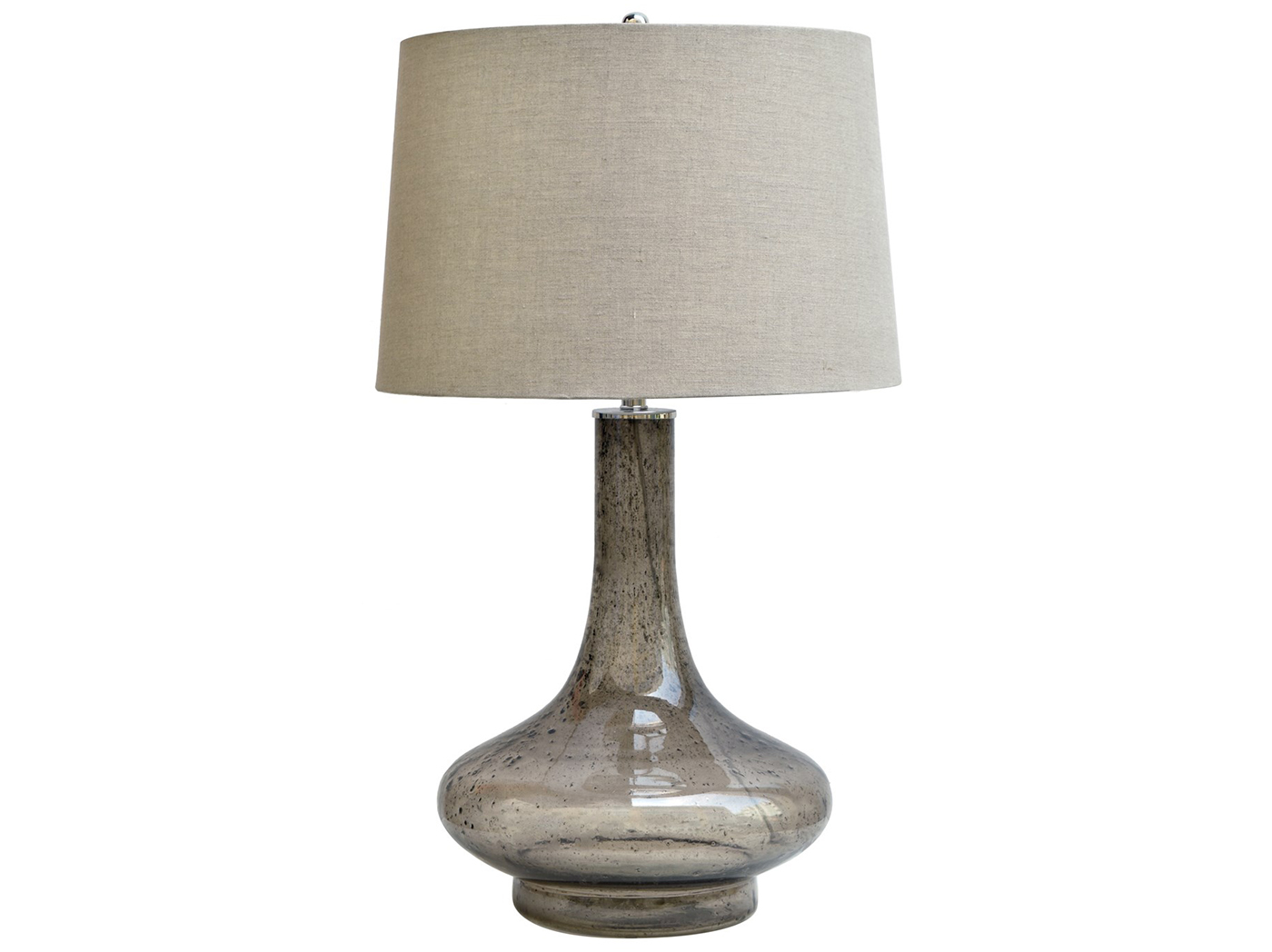 "Smoked Glass Table Lamp 31""H"