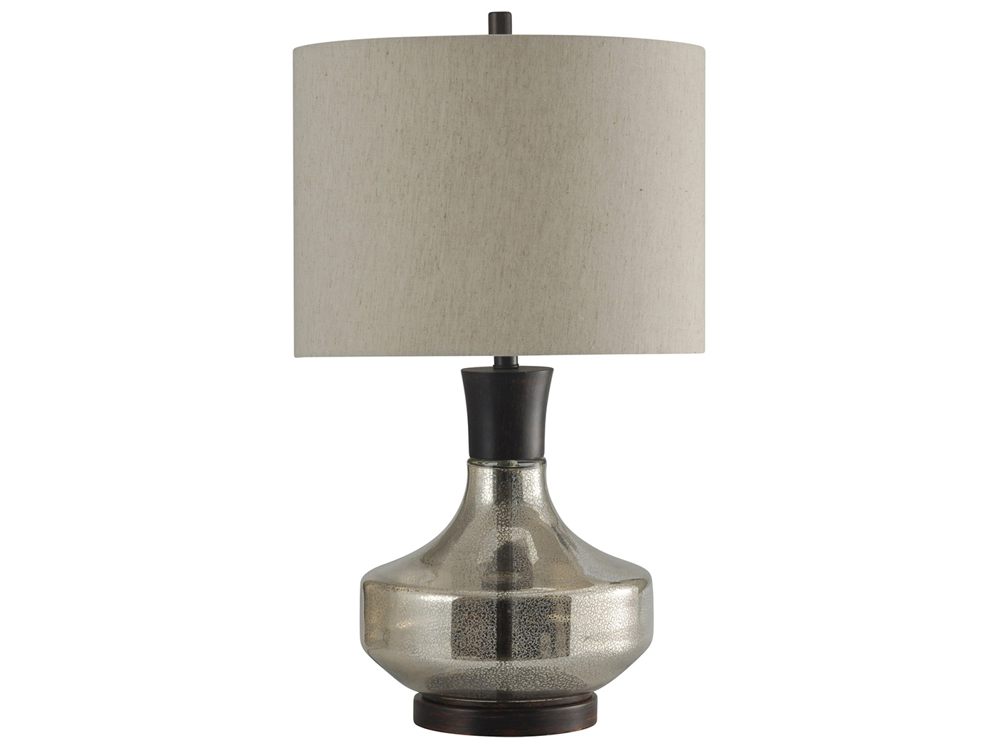 "Mercury Glass and Metal Table Lamp 29""H"