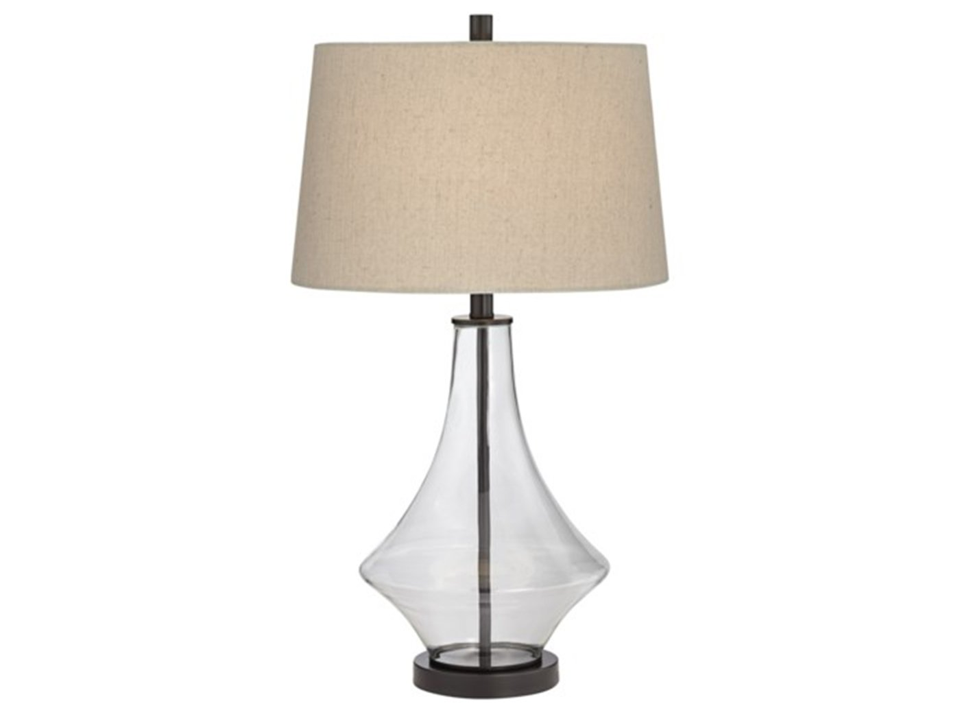 "Clear Glass Table Lamp 28""H"