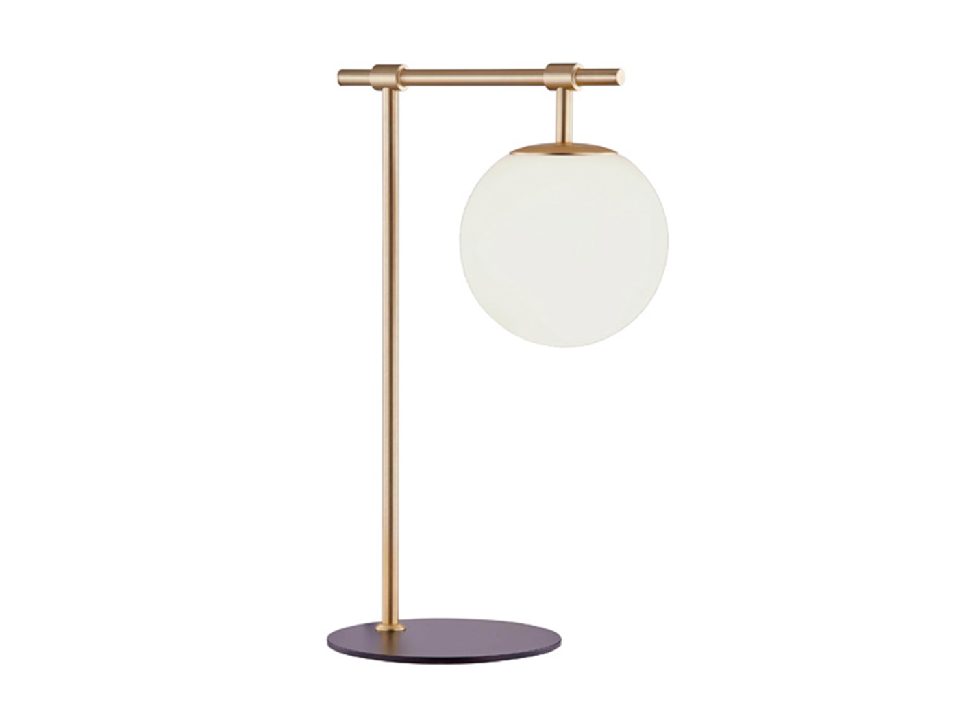 "Gold With Frosted Glass Shade Table Lamp 21""H"