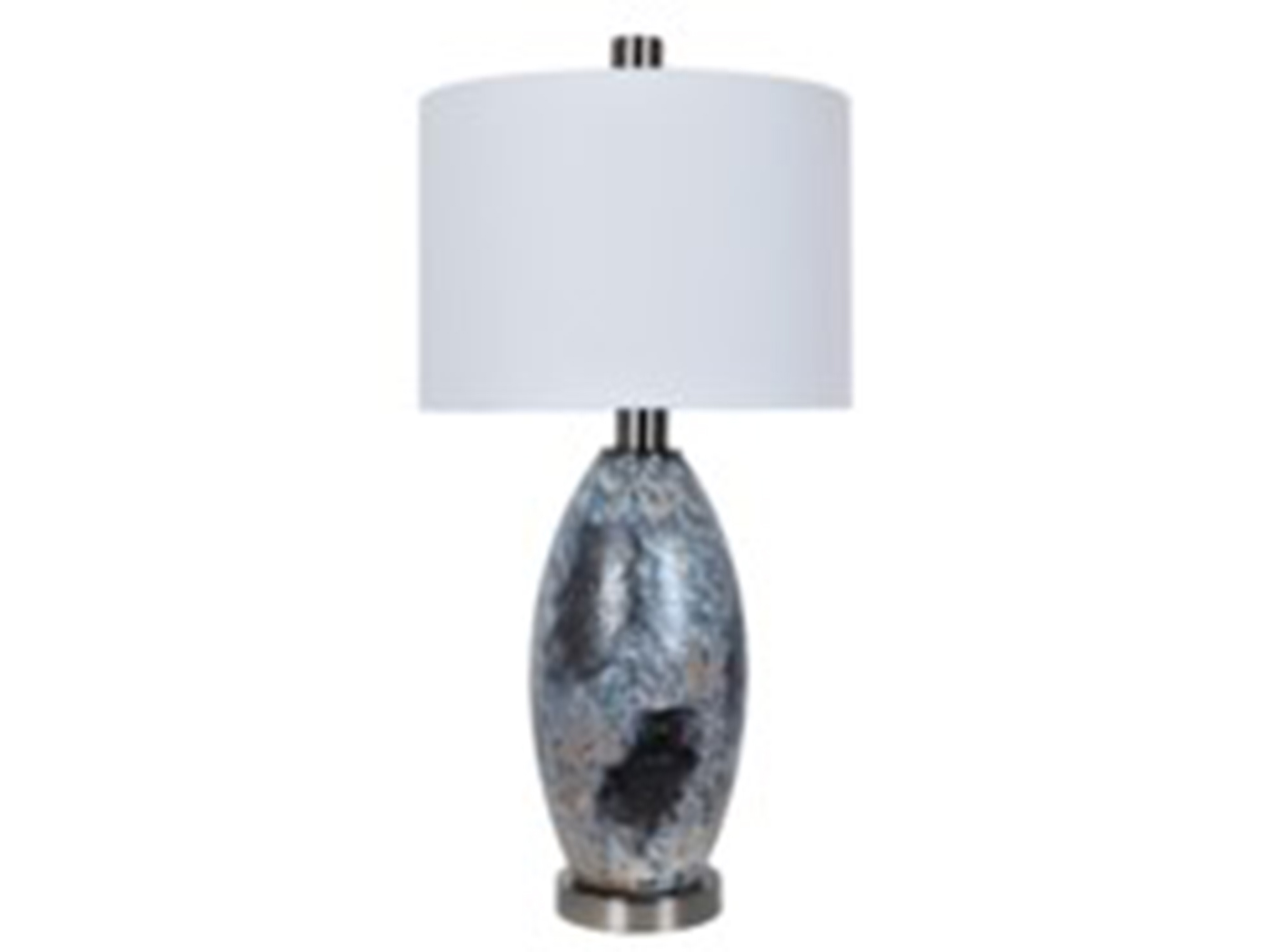 "Glass and Metal Table Lamp 32.5""H"