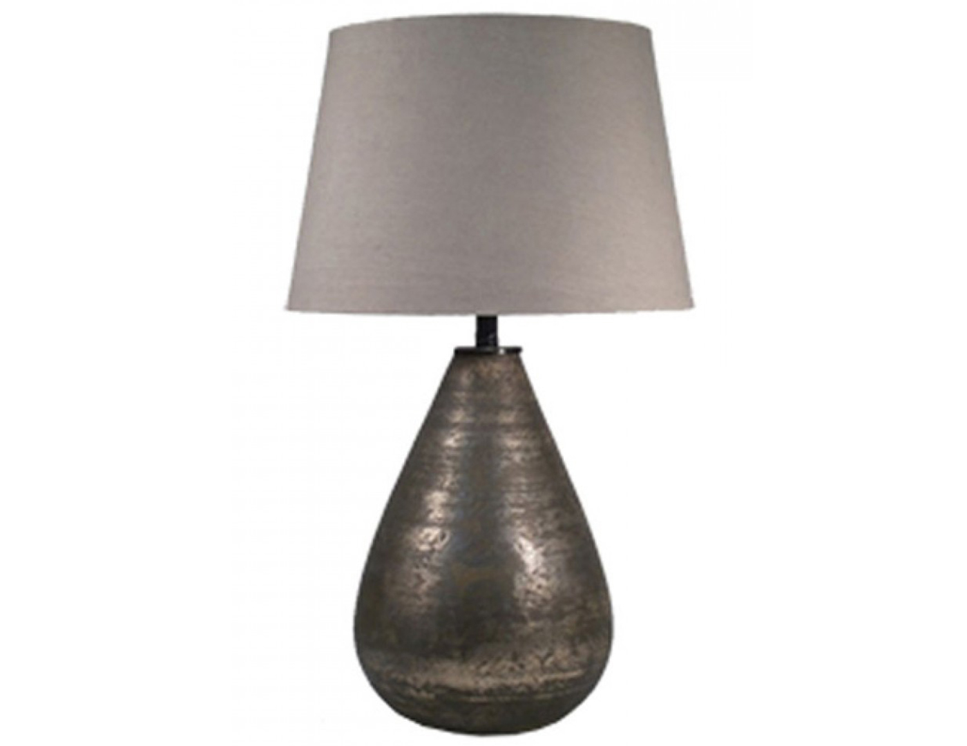 "Gray Glass Table Lamp 29""H"