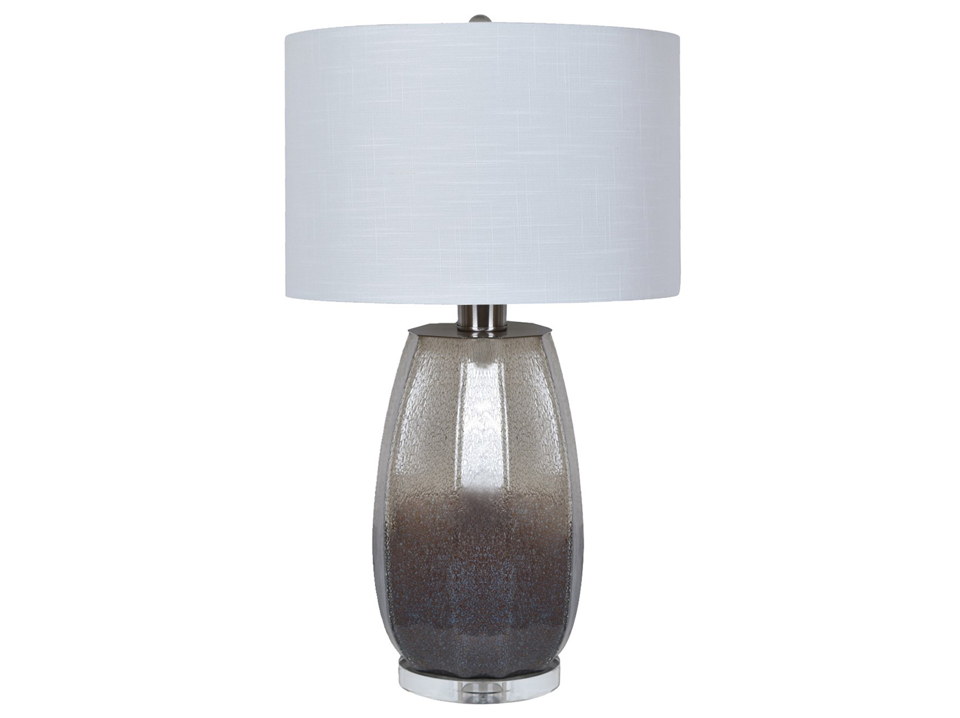 "Crystal Smoked Glass Table Lamp 30""H"