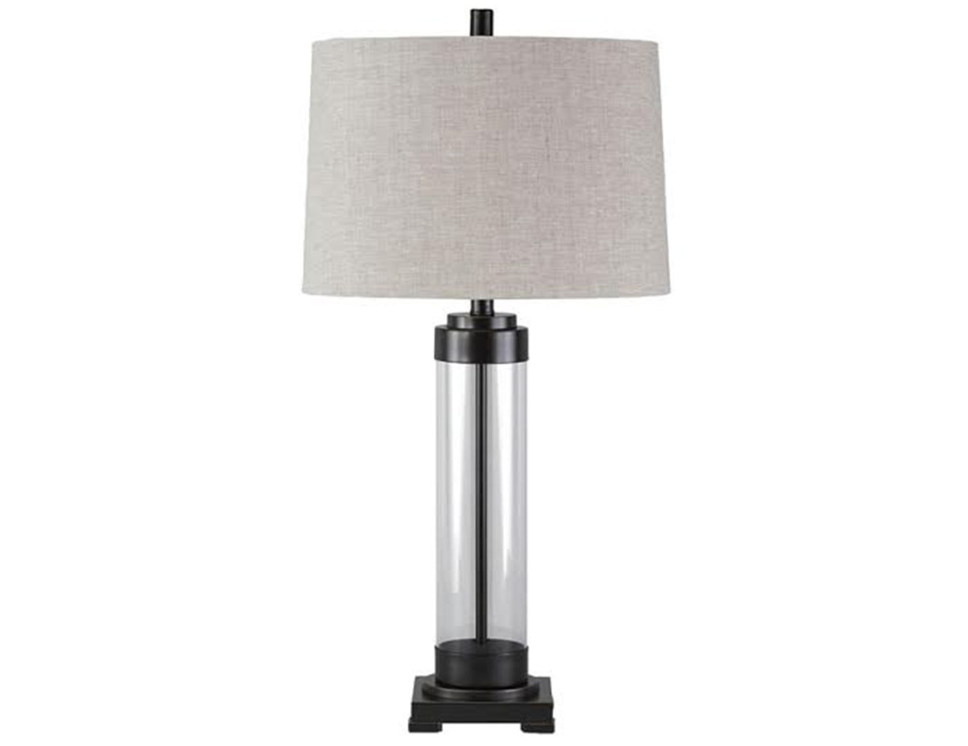 "Glass and Bronze Table Lamp 30""H"