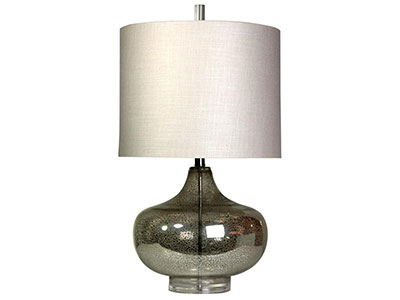 "Laguna Mercury Glass Table Lamp 28""H"