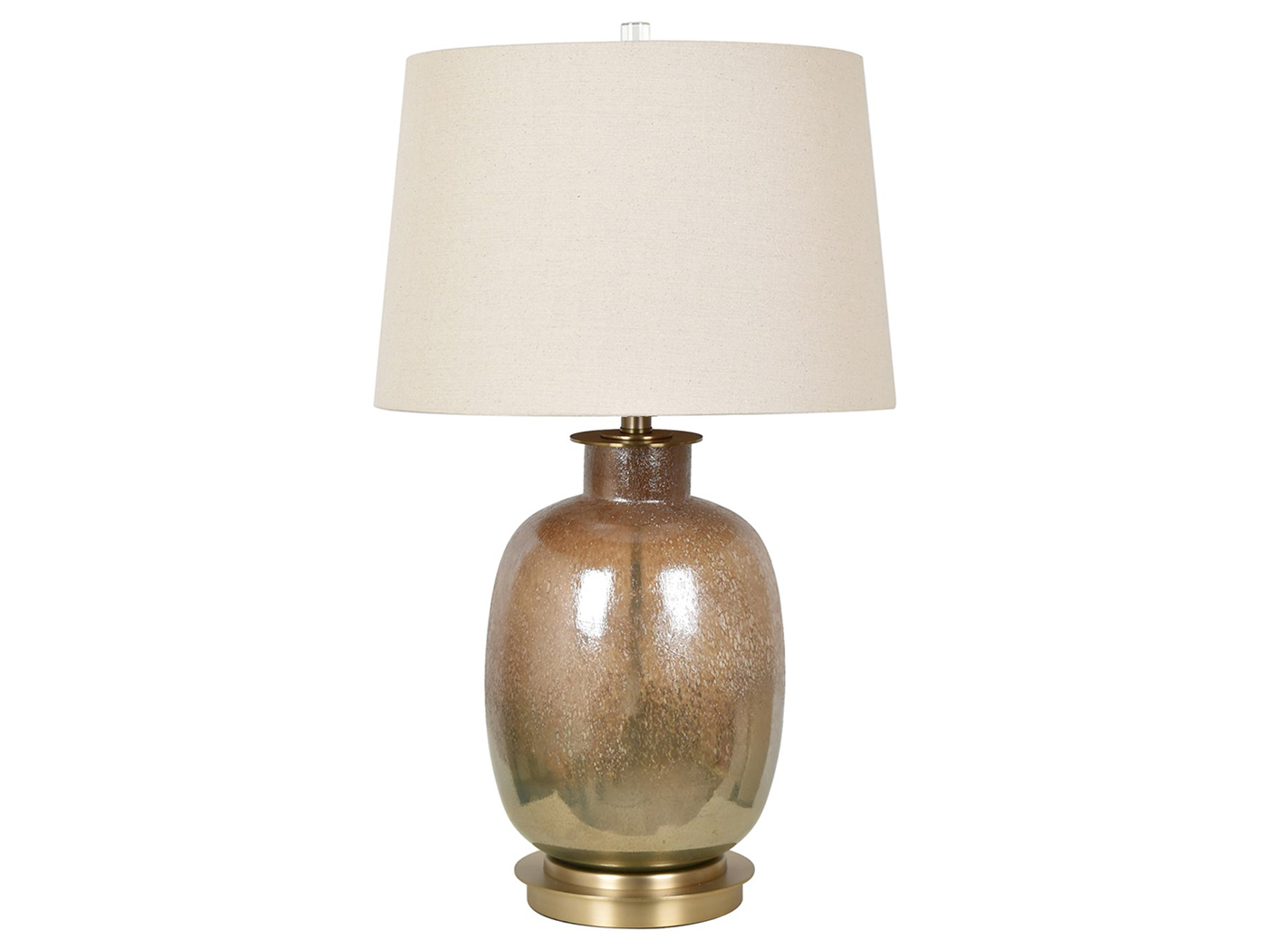 "Bronze Glass Table Lamp 28""H"