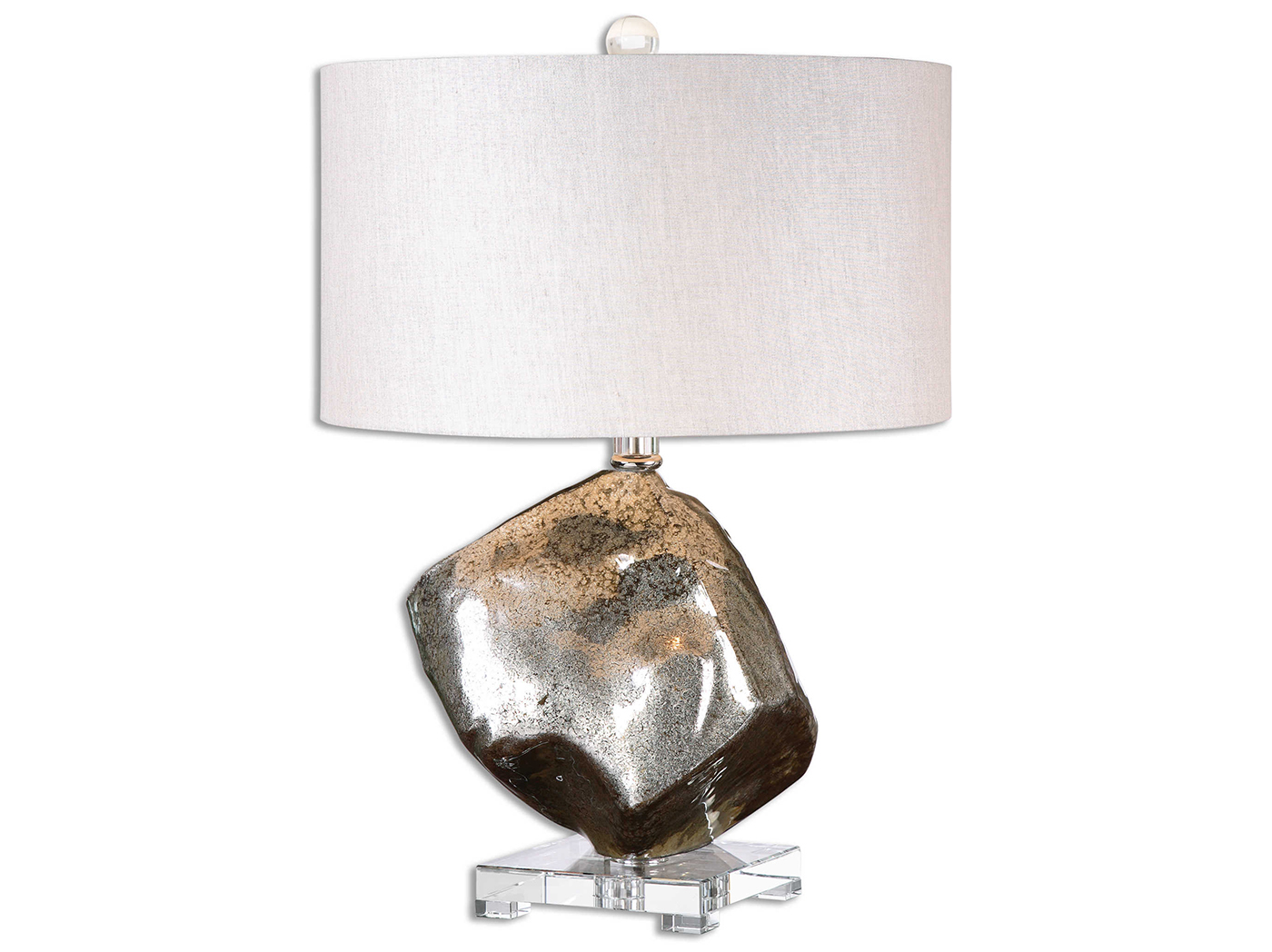 "Mercury Glass Table Lamp 26""H"